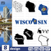 Wisconsin SVG vector bundle - Svg Ocean