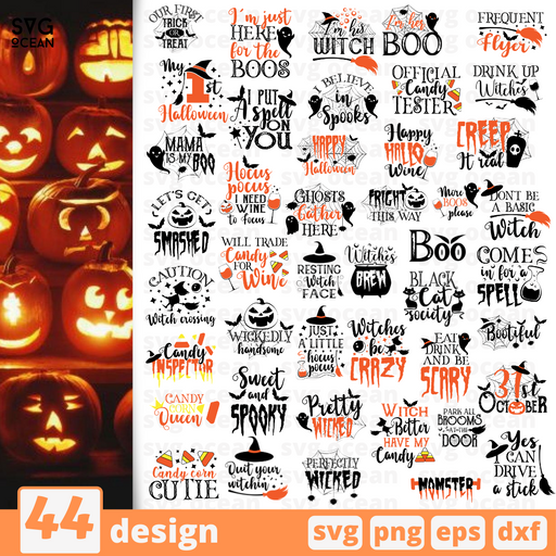 Halloween quotes SVG vector bundle - Svg Ocean