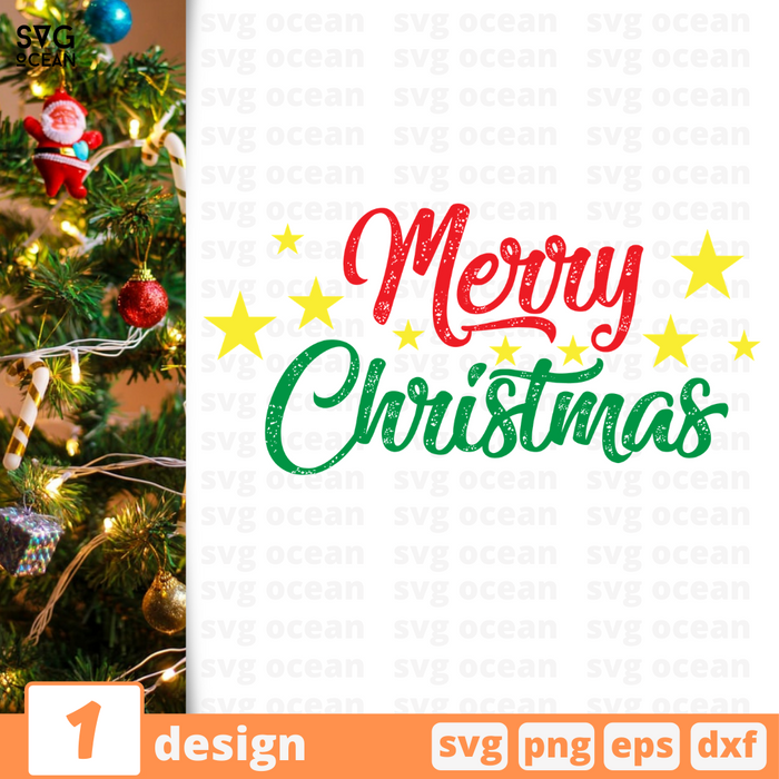 Merry Christmas SVG vector bundle - Svg Ocean