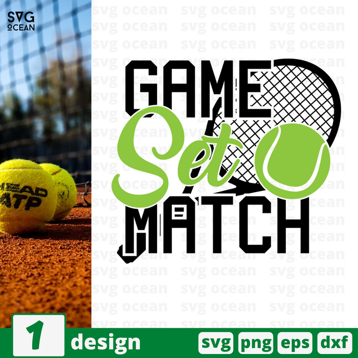 Game set match SVG vector bundle - Svg Ocean