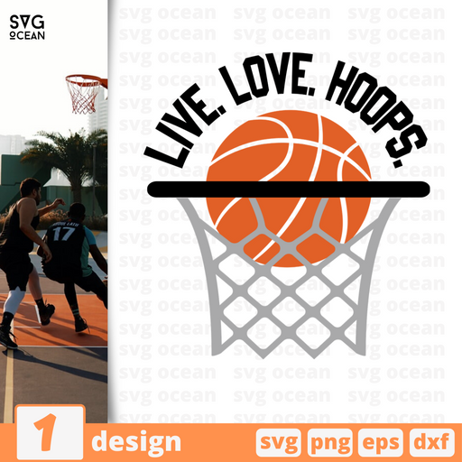 Live. Love. Hoops SVG vector bundle - Svg Ocean