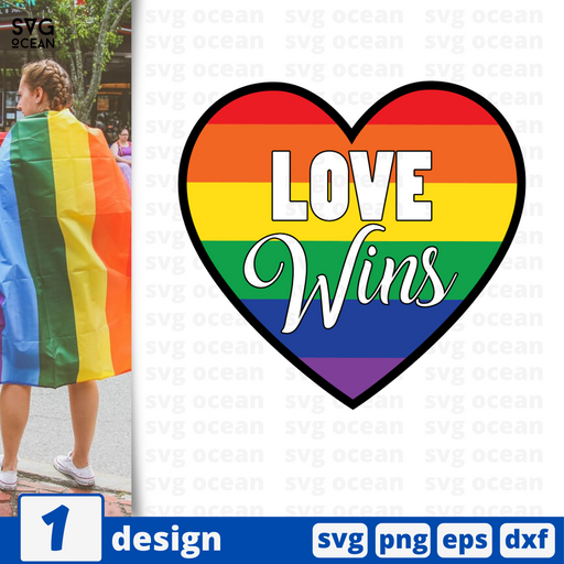 Love wins SVG vector bundle - Svg Ocean