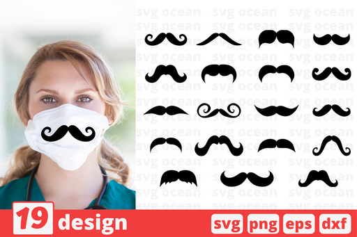 Mustache svg cut files - Svg Ocean