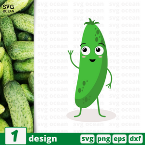 Cucumber SVG vector bundle - Svg Ocean