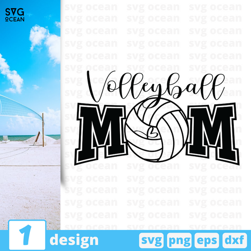 Free Volleyball quote SVG printable cut file Volleyball mom - Svg Ocean