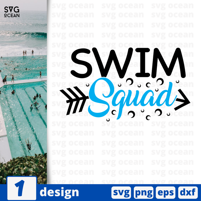 Swim squad SVG vector bundle - Svg Ocean
