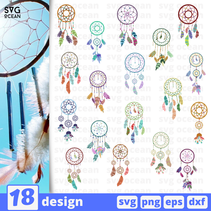 Dreamcatcher SVG vector bundle - Svg Ocean