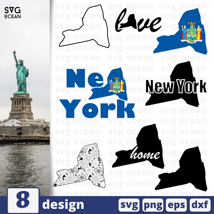 New York SVG vector bundle - Svg Ocean