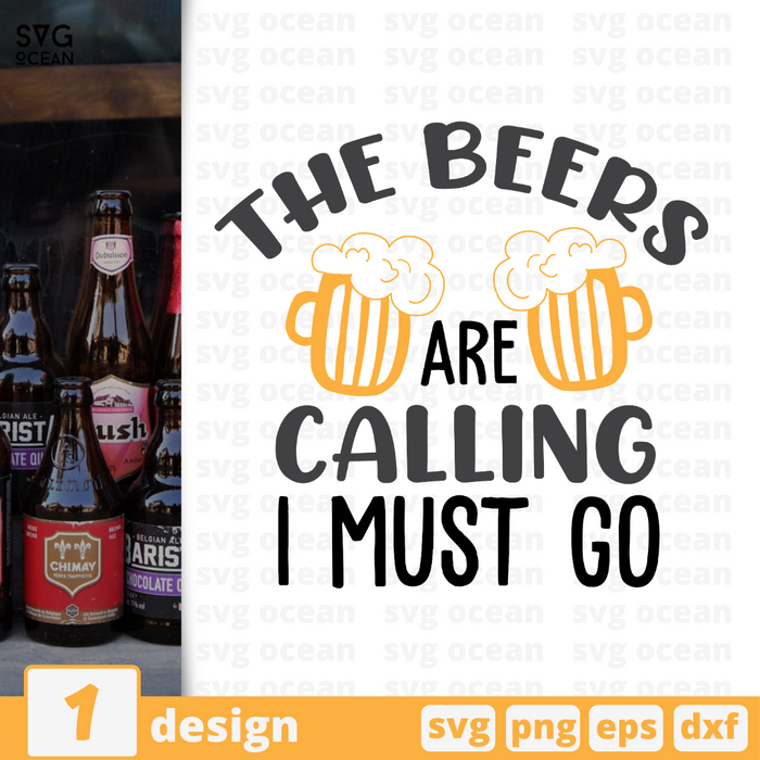 The beers are calling I must go SVG vector bundle - Svg Ocean