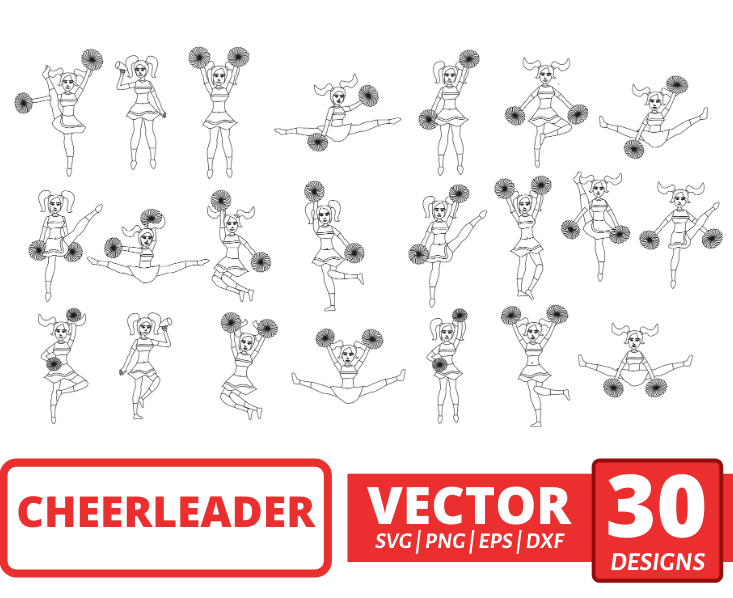 Cheerleader SVG Bundle
