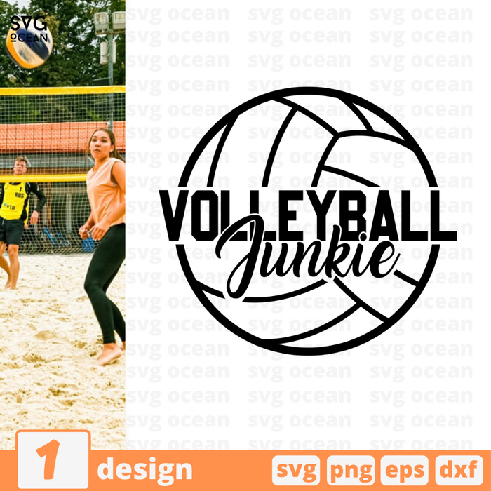 Volleyball Junkie SVG vector bundle - Svg Ocean