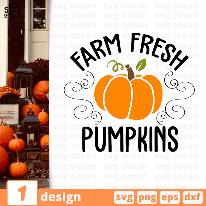 Farm Fresh Pumpkins SVG vector bundle - Svg Ocean