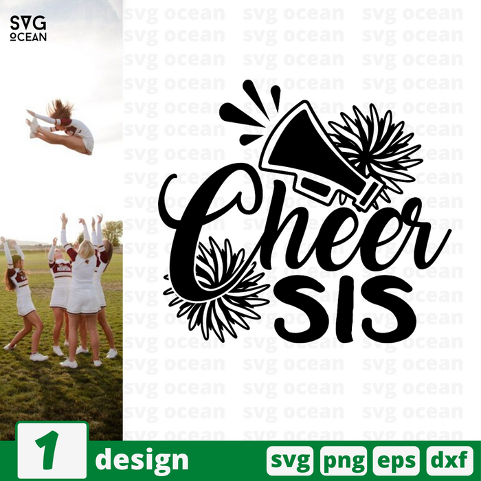 Cheer sis SVG vector bundle - Svg Ocean