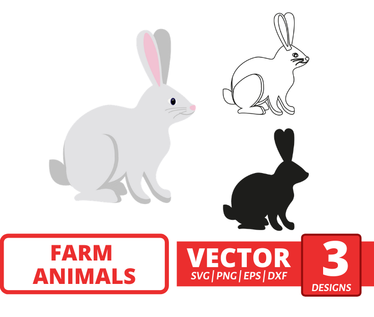 Rabbit SVG vector bundle - Svg Ocean