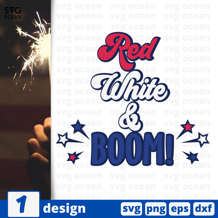 Red white & boom SVG vector bundle - Svg Ocean