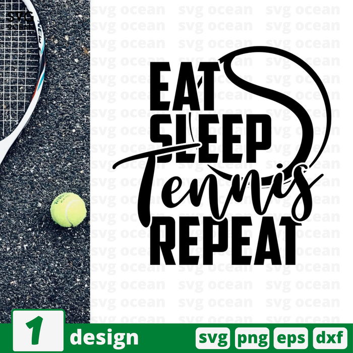 Eat Sleep Tennis Repeat SVG vector bundle - Svg Ocean