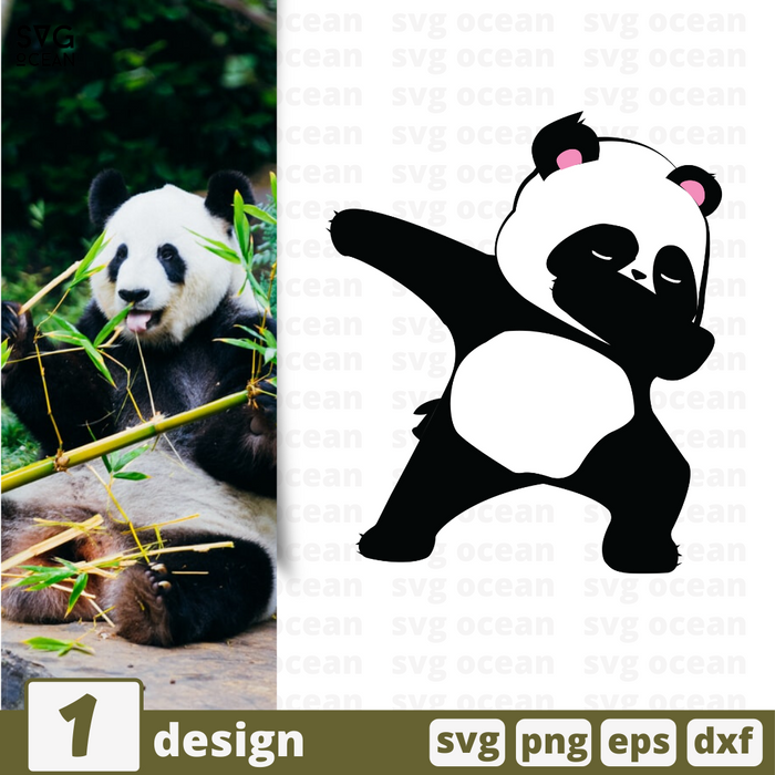 Free Dab panda quote SVG printable cut file Dab panda - Svg Ocean