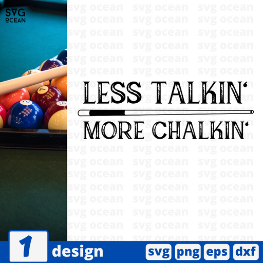 Less talkin' More chalkin' SVG vector bundle - Svg Ocean