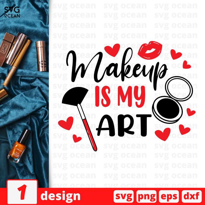 Makeup is my art SVG vector bundle - Svg Ocean