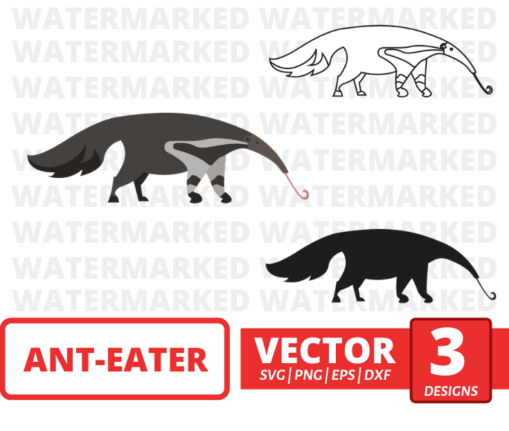 Ant-eater SVG vector bundle - Svg Ocean