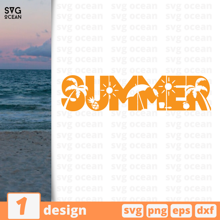 Summer SVG vector bundle - Svg Ocean