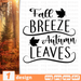 Fall breeze Autumn leaves SVG vector bundle - Svg Ocean