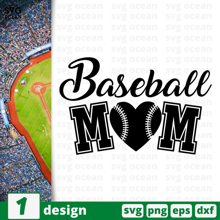 Baseball mom SVG vector bundle - Svg Ocean
