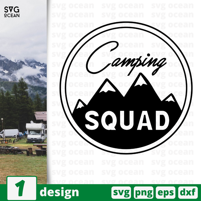 Camping squad  SVG vector bundle - Svg Ocean