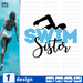 Swim sister SVG vector bundle - Svg Ocean