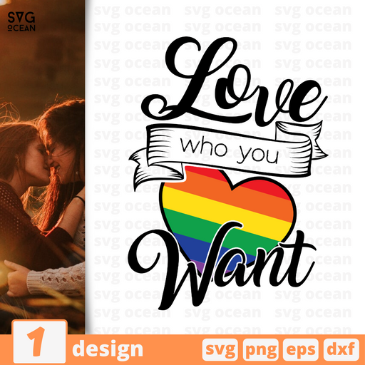 Love who you want SVG vector bundle - Svg Ocean