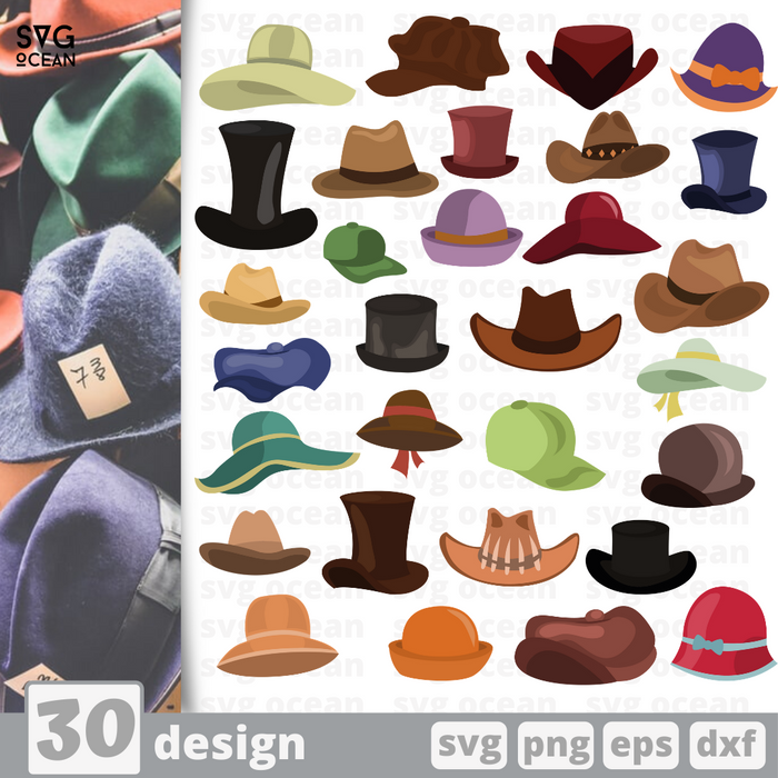 Hats SVG vector bundle - Svg Ocean