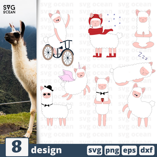 Lama SVG vector bundle - Svg Ocean