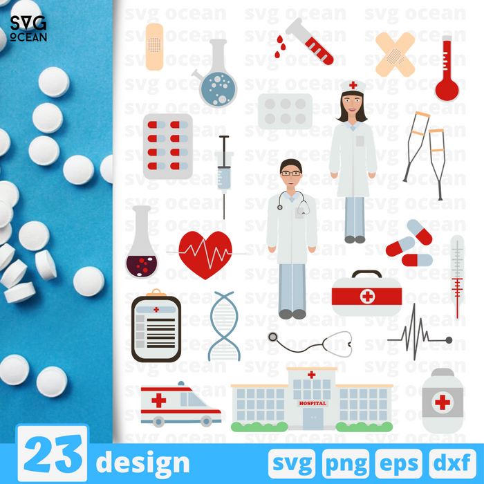 Medicine SVG vector bundle - Svg Ocean