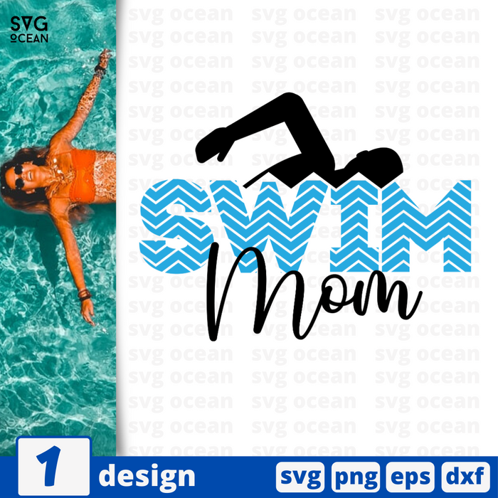 Swim mom SVG vector bundle - Svg Ocean