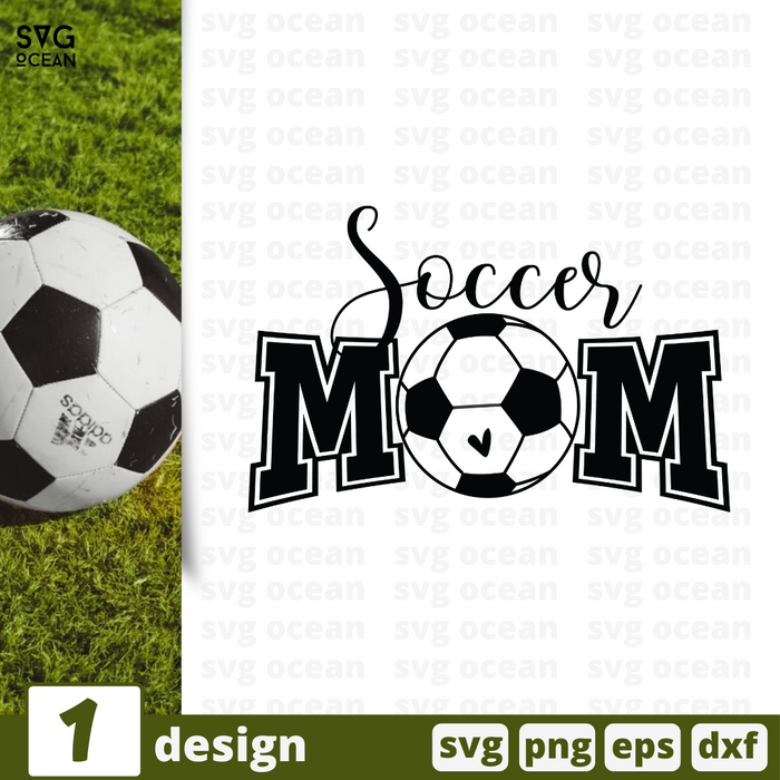 Free Soccer mom quote SVG printable cut file Soccer mom - Svg Ocean