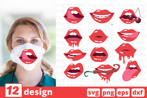 Lips Face Masks svg - Svg Ocean
