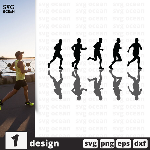 Free Run quote SVG printable cut file Run - Svg Ocean