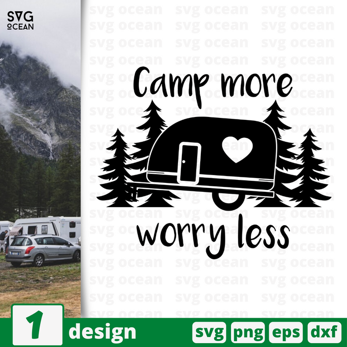 Camp more worry less SVG vector bundle - Svg Ocean