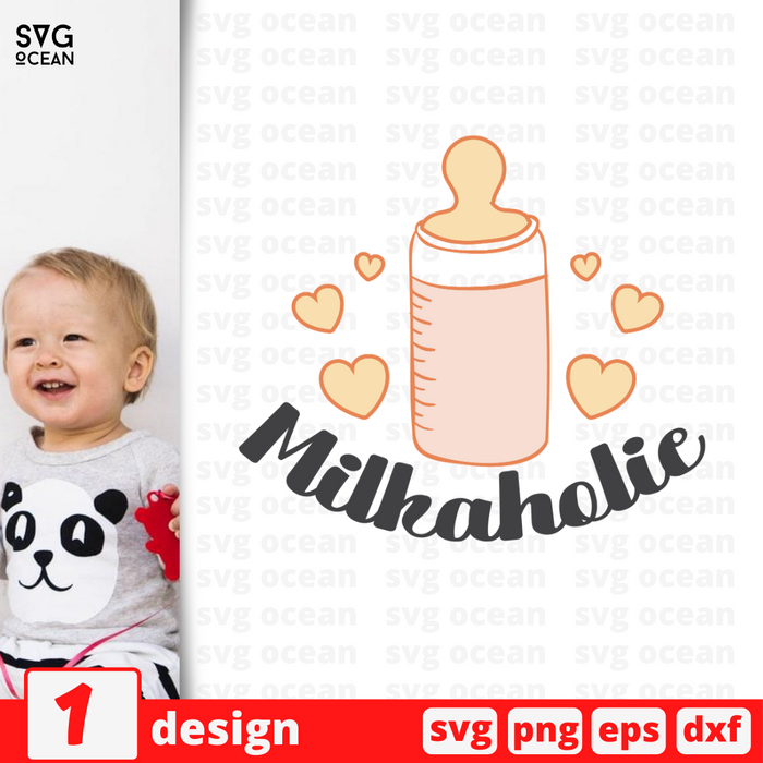 Milkaholic SVG vector bundle - Svg Ocean