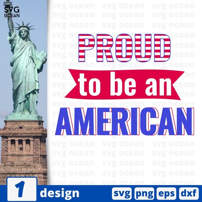 Proud to be an american SVG vector bundle - Svg Ocean
