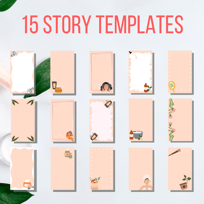Natural Cosmetics Instagram Highlight covers and templates