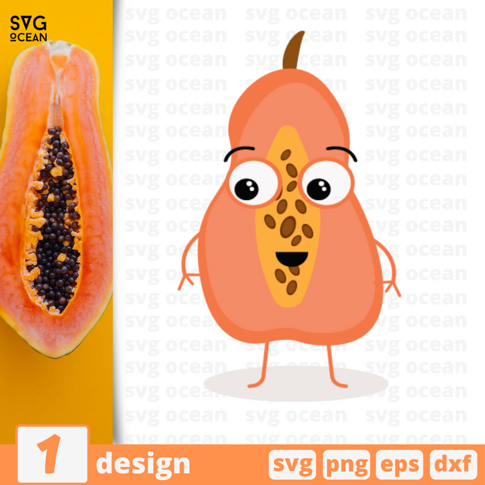 Papaya SVG vector bundle - Svg Ocean