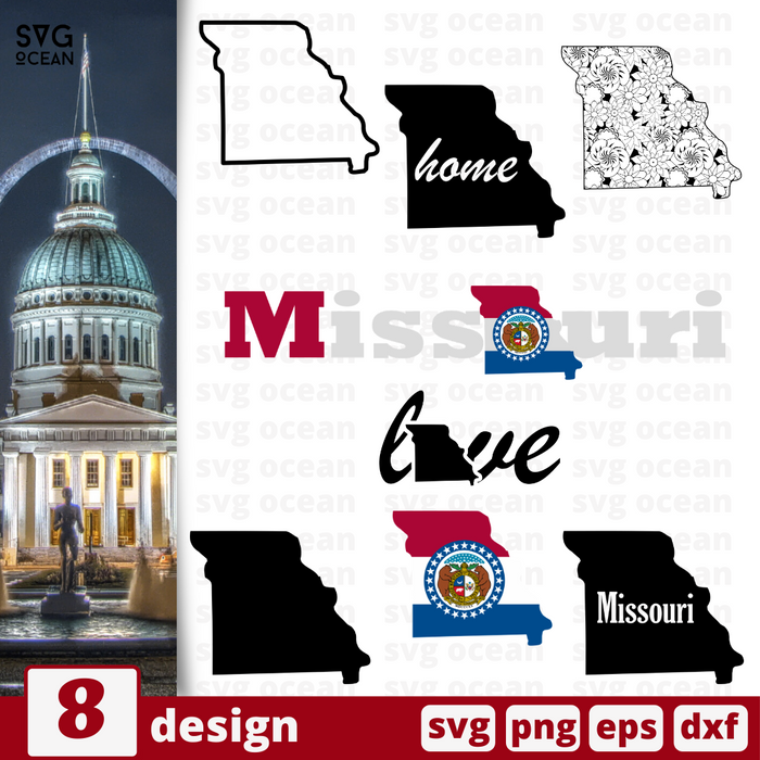 Missouri SVG vector bundle - Svg Ocean
