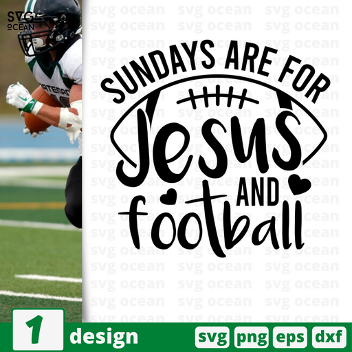 Sundays are for Jesus and football SVG vector bundle - Svg Ocean