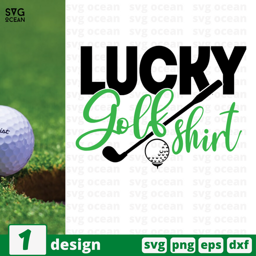 Lucky golf shirt SVG vector bundle - Svg Ocean