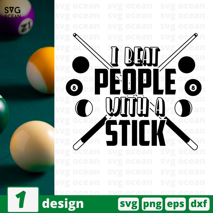 I beat people with a stick SVG vector bundle - Svg Ocean