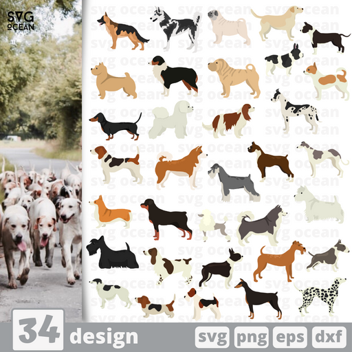 Dogs SVG vector bundle - Svg Ocean