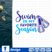 Swim is my favorite season SVG vector bundle - Svg Ocean