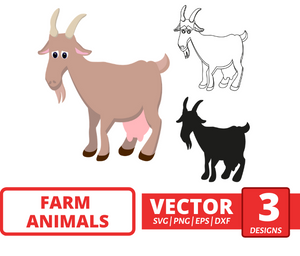 Goat SVG vector bundle - Svg Ocean