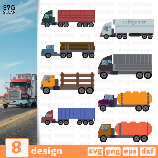 Truck SVG vector bundle - Svg Ocean